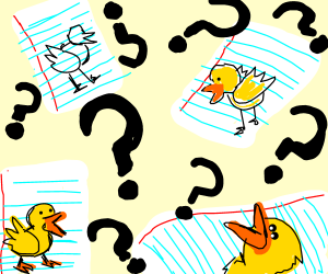 WHO'S BEEN DRAWING DUCKS