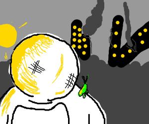 Astronaut & grasshopper survive the apocalypse
