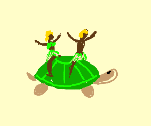 The Little Charmers Riding a turtle