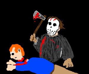 Jason kills man with axe