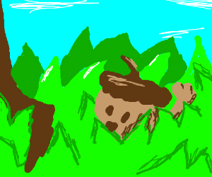 Acorn waves at you from the grass