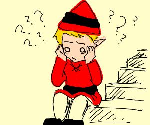 Confused elf is very confused.