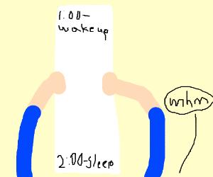 A long schedule
