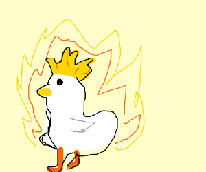 powering up too long turns you into a chicken