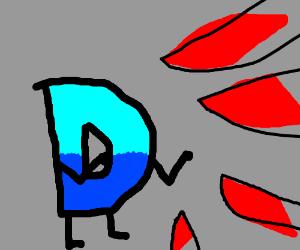 Drawception D fighting many 1000 degree knives