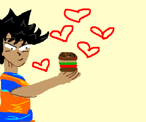 Goku falls in love with a sentient hamburger