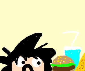 Goku is afraid of calories