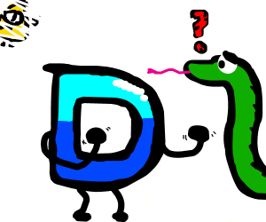 Drawception fights a snake person