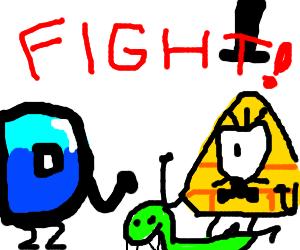 D.C. D fights confused snake, Bill Cipher