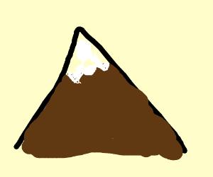 Snow mountain top