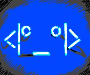 ASCII robit face