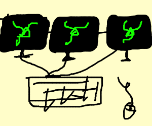 The 3 screen razer laptop