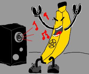 A Music Lover Banana