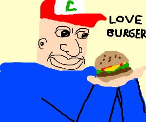 Anime pokemon guy loves burger