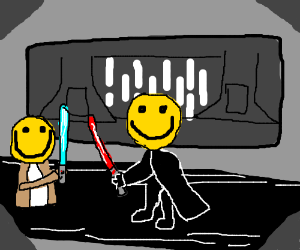 Smiley Face Star Wars