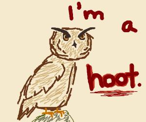 An owl pun