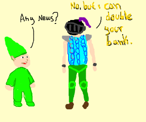 gnome asks what the news is
