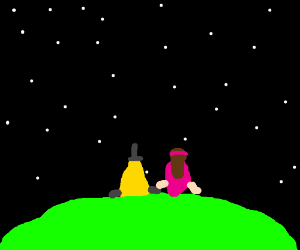 Mable and Bill Cypher on a date watching stars