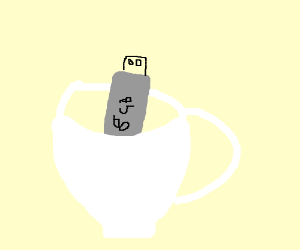 Flash drive in a Teacup