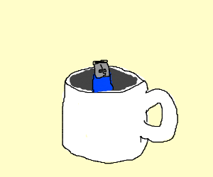 USB in a coffee cup