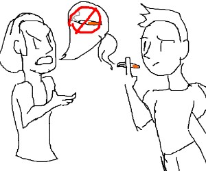 A disagreement about smoking.