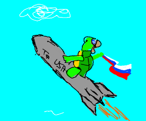 Turtle Rides a Rocket to USA