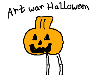 Art war Halloween