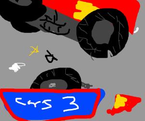 McQueen's crash in Cars 3