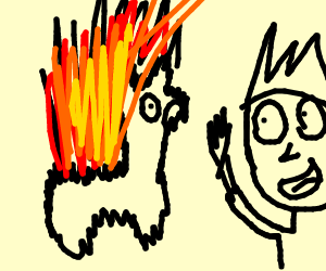 A Lama On Fire Fighting Draw With Jazza