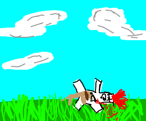 dog eats marshmallow guy with red hair on gras