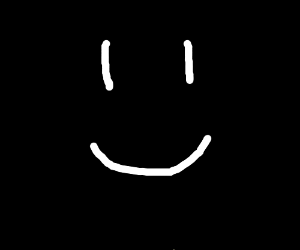 a smiley face in a dark place