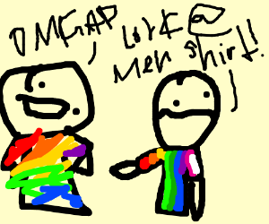 """two """"gay"""" men talkig to each other ;3"""