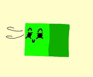 Smug Green Cube