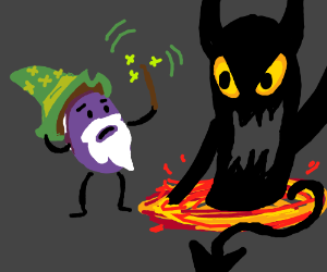 Grape Wizard Summons Satan