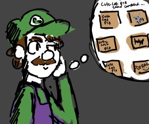 Luigi contemplates the concept of PIO games