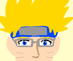 Naruto with glasses and big hair