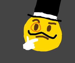 Dapper thinking emoji