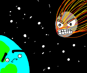 metiar angry at the earth