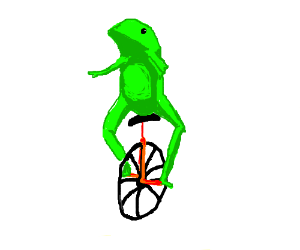 Frog in an unicycle