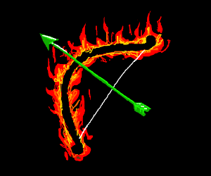 fire bow and green arrow