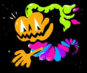 Space Worm Jack-O-Lantern
