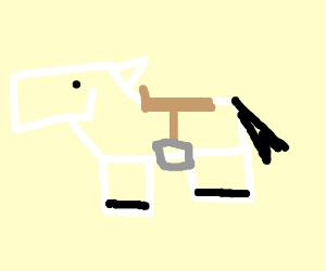 minecraft horse with saddle