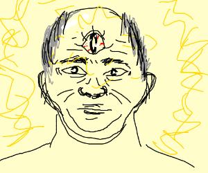 Old Man Opens Third Eye