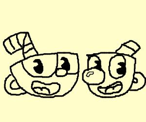 cup head and mug man