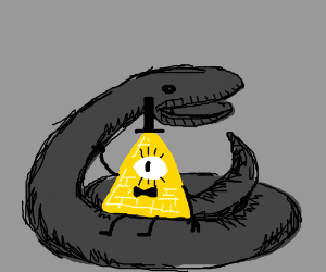 Bill cypher and a snake