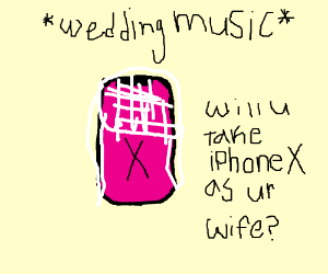 Your wedding to the iPhone X