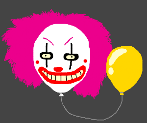 Mystical Floating Clown Head has Balloon