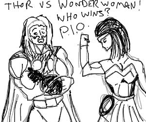 Thor VS Wonder Woman! Who Wins? (P.I.O.)