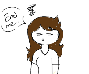 """jaiden from Jaiden Animations saying """"end me"""""""
