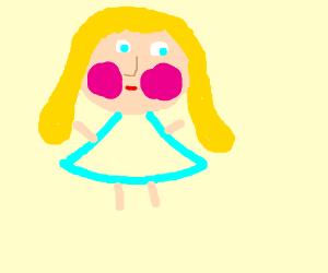 Girl blushing